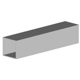 Tube carré aluminium 4800 mm - 40x40 ép. 2,5 mm