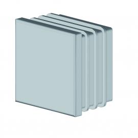 Bouchon plastique pour tube carré 40 mm aluminium