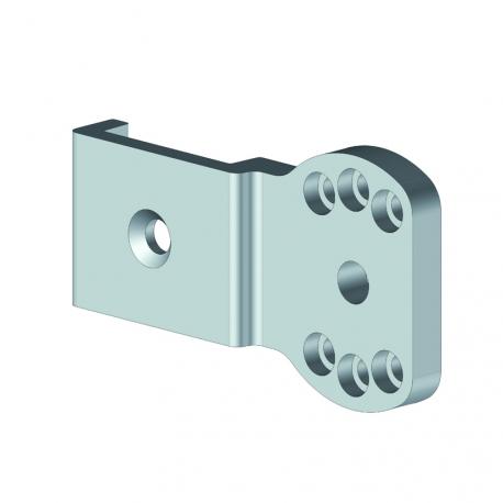 Support d'enroulement aluminium laqué + axe pour tourillon à ogive