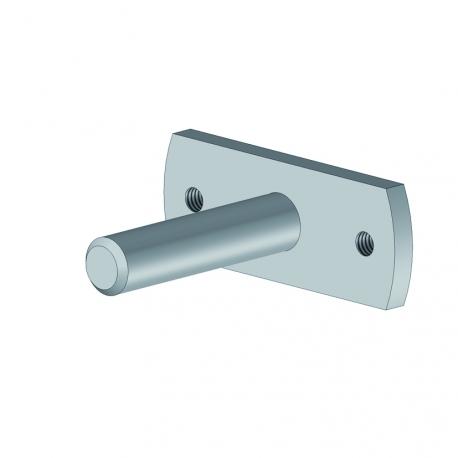 Plaque + axe pour tube enrouleur - Store double pente et pergola bioclimatique