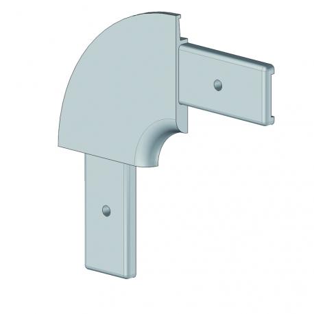 Angle corbeille profil 55. rayon 75 mm