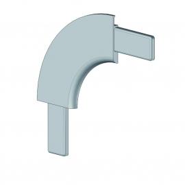 Angle corbeille profil 55. rayon 120 mm