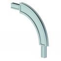 Angle corbeille profil 55. rayon 200 mm