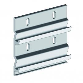 Semelle de fixation coffre Carcassonne aluminium largeur 196 mm