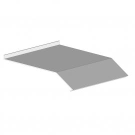 Auvent de protection en tôle Florence Sienne - 4000 mm