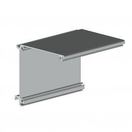 Auvent de protection screen 75 façade / plafond - 5880 mm