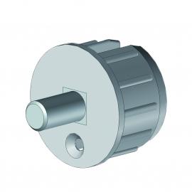 Tourillon Ø48 pvc avec axe rond Ø12 mm