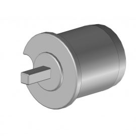 Tourillon pvc Ø48 avec carré de 7 mm