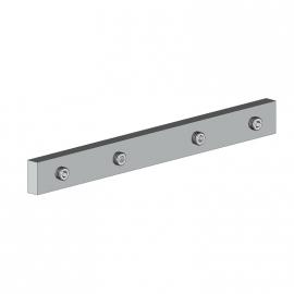 Réglette de raccord barre de charge ou semelle de fixation aluminium blanc
