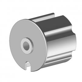 Tourillon creux en pvc Ø20 pour tube Ø70