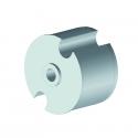 Tourillon creux Ø78 à ogive injection aluminium