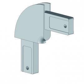 Angle corbeille profil 55. rayon 60 mm