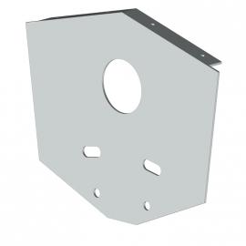 Joue aluminium laqué pour auvent abri de terrasse Duetto
