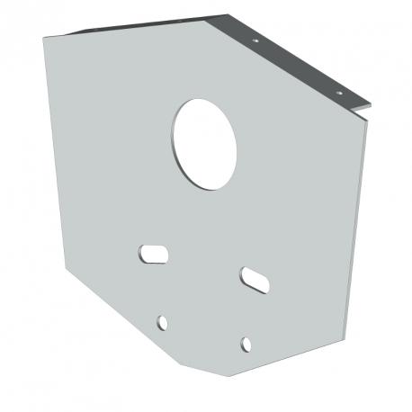 Joue aluminium laqué - store banne double pente