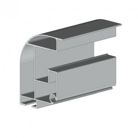 Profil guide et gouttière en une partie store véranda - 4000 mm