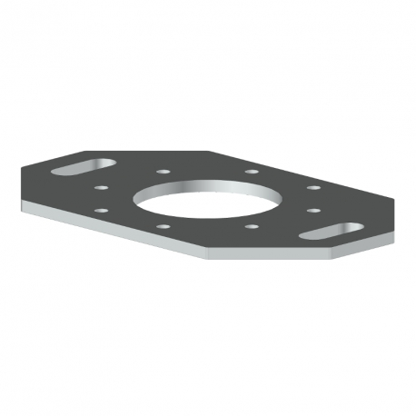 Platine de fixation 180° - Pergola aluminium Cros