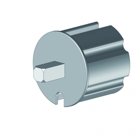 Tourillon carré de 13x13 mm pour tube Ø70 injection aluminium