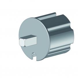 Tourillon pvc carré de 13x13 mm pour tube Ø70