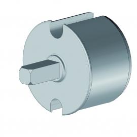 Tourillon pvc axe de Ø12 mm pour tube Ø78