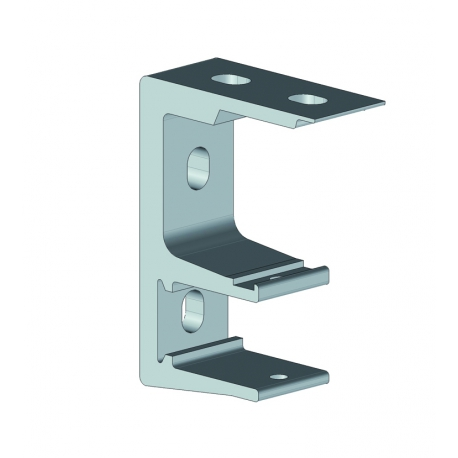 Support façade / plafond sans cage avant aluminium laqué