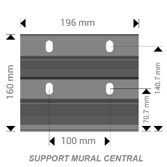 support mural central pergola bioclimatique